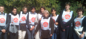 Equipe Adecco Medical en formation Média avant son Run