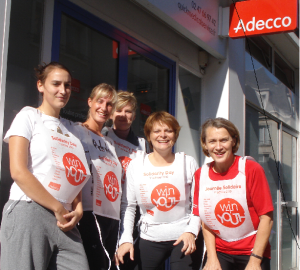 Adecco Medical Tours juste avant son run @win4youth