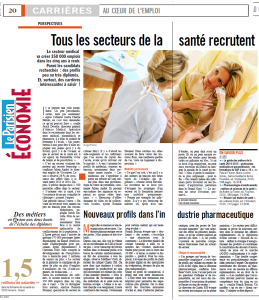 LE PARISIEN ARTICLE AVRIL 2015